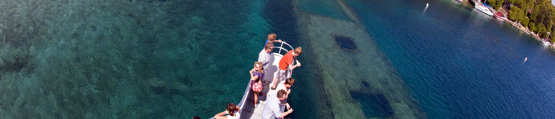 Cruise on our Non-Stop Glass Bottom Boat
