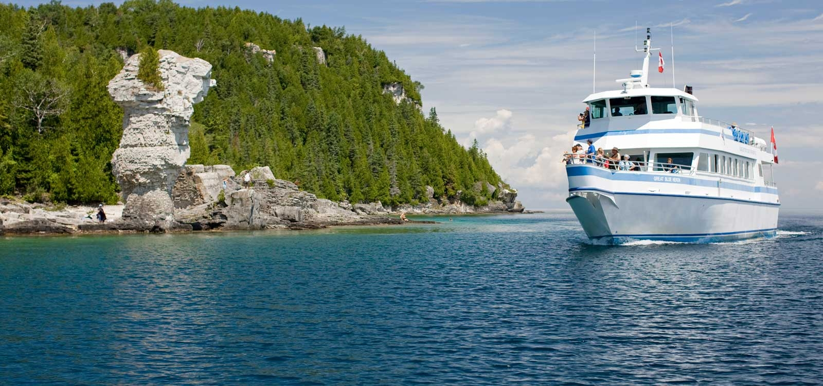Glass-Bottom Cruise to Flowerpot Island
